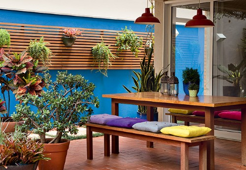 jardim vertical simples:Dicas de decoração de casas com bambu