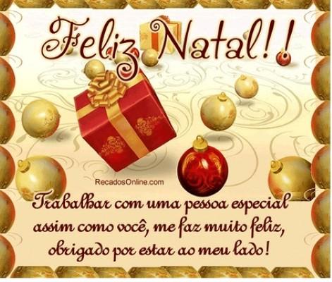 Mensagem de feliz natal  (Foto: Divulgação).