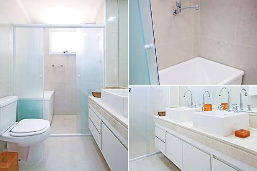 Banheiro pequeno com banheira e boxe  Fotos -> Fotos De Banheiro Com Banheira Pequeno