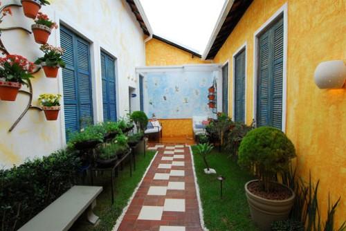 horta e jardim juntos:Decoração para áreas pequenas (Foto:Divulgação).