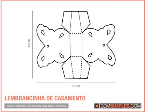 Molde de lembrancinha eva (Foto:Divulgação)
