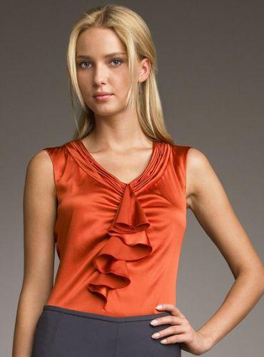 a blusa de cetim a verso mais econmica da blusa de seda mas no