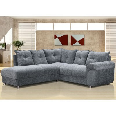 Salas decoradas com sof de canto for Sofas articulados modelos