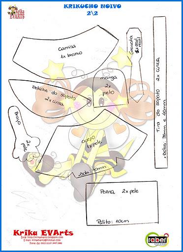 Molde de noivinhos em EVA (Foto:Divulgação)