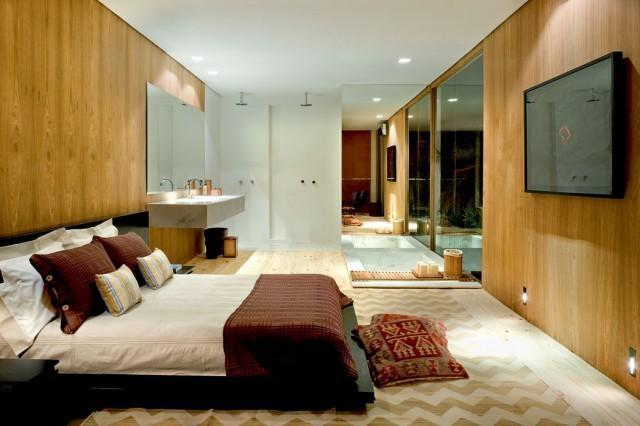 Banheiro Integrado Ao Quarto Pequeno ~ Ambientes integrados podem ser muito charmosos (Foto Divulga??o)