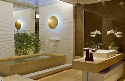 Projetos de banheiro para casal -> Banheiro Decorado Casal