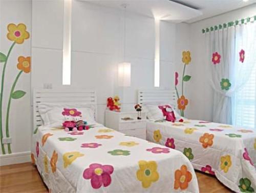 decoracao de interiores de quarto infantil:Decoração para quarto de meninas Gêmeas