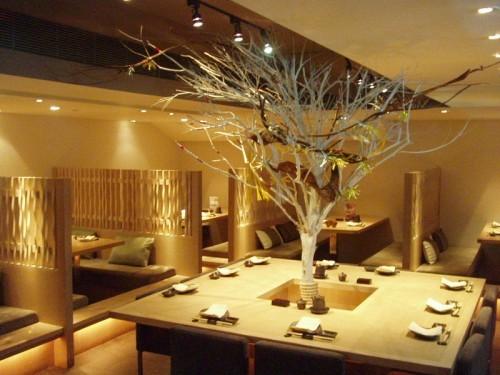 Decoração para restaurante japonês