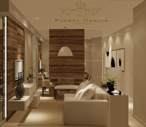 Projetos de sala de jantar pequena for Modelos de sala de casa