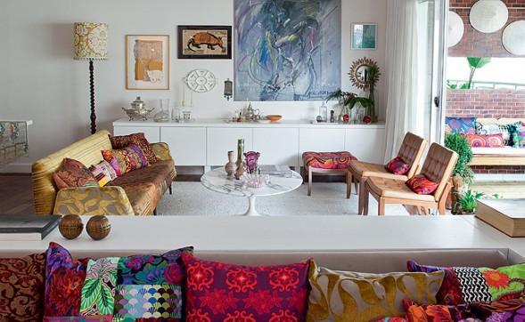 Linda decoração para apartamentos femininos. (Foto: Divulgação).