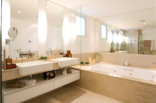 Banheiros Modernos Assim Eu Gosto : Projetos de banheiro para casal