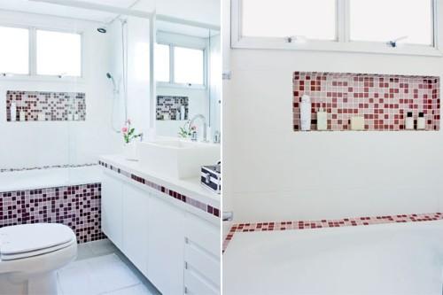 Banheiras para banheiro pequeno -> Banheiro Pequeno Com Banheira De Alvenaria