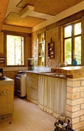 Decora o caipira para cozinha - Cortinas para casa rustica ...