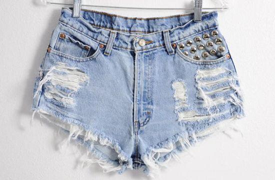 como fazer short desfiado da moda