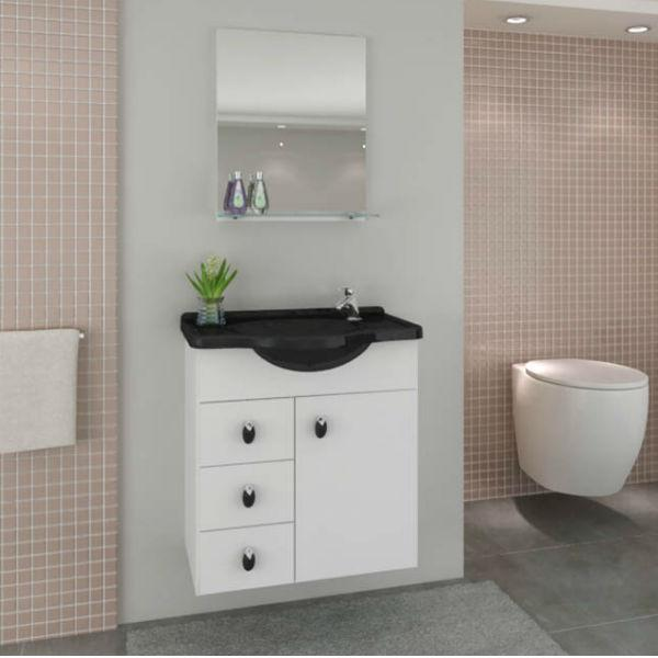 Gabinete para banheiro com espelho  Veja Modelos -> Gabinete Para Banheiro Pequeno Telhanorte