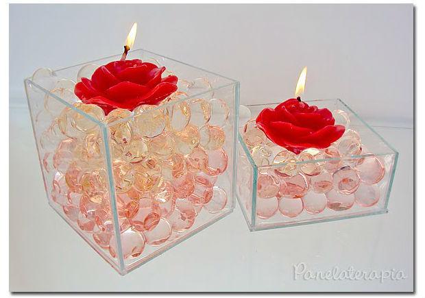 Decoração com velas para o Dia dos Namorados