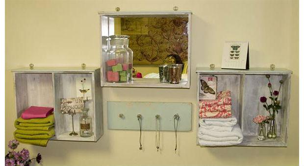Ideias para decorar banheiro com material reciclado -> Banheiro Decorado Com Material Reciclado