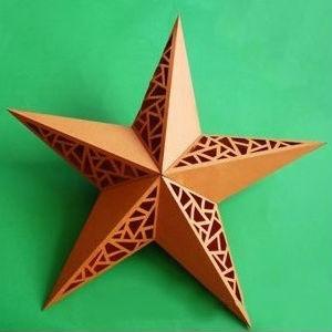 Estrela de papel decorada passo a passo