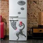 Como fazer adesivo para geladeira de gatinho
