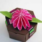 Caixa de papel simples com molde para imprimir