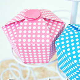 Caixas para doces e cupcakes