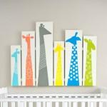 Como fazer quadros de girafa para decoração