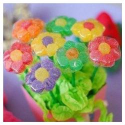 Flor de jujubas coloridas