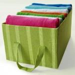 Organizador de roupas de caixa de papelão