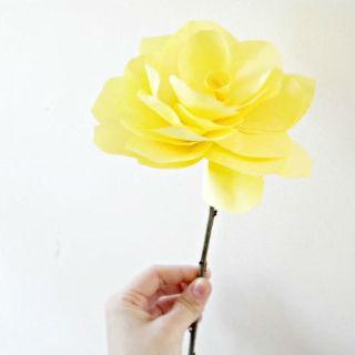 Rosas de papel simples