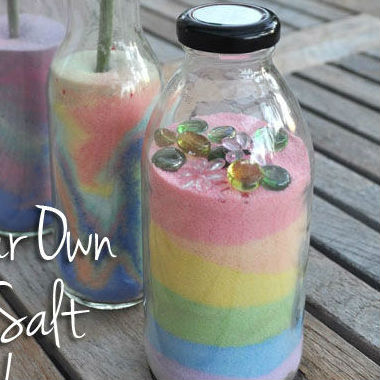 Artesanato com sal colorido passo a passo