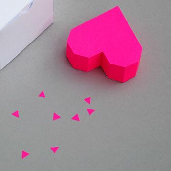 Caixa em 3D de coração