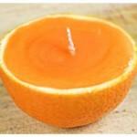 Vela feita de casca de laranja passo a passo