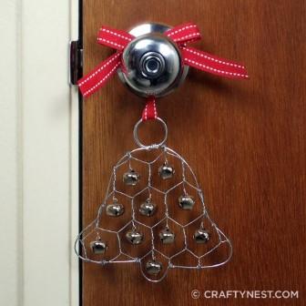 Artesanato de Natal para maçaneta de porta com sinos (Small) (Custom)