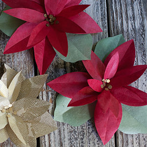 Flores de papel para o Natal