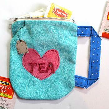 Porta-chá de tecido