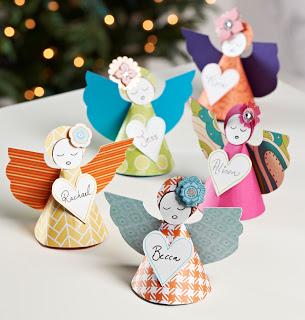 Anjos natalinos de papel