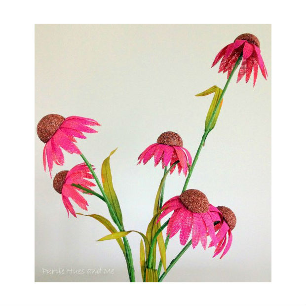 arranjo de flores de juta passo a passo