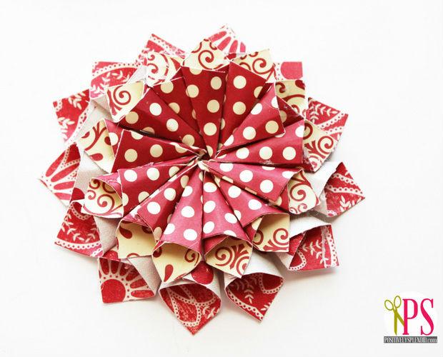 Enfeite De Papel ~ Enfeite de papel scrapbooking para o Natal