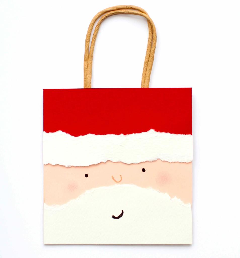 Sacola de presente do Papai Noel