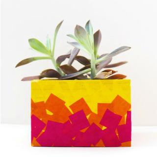 Como decorar caixas com papel de seda
