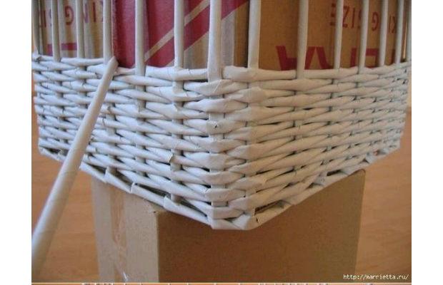 Como fazer cesta de papel tran ado passo a passo - Cestas de papel de periodico paso a paso ...