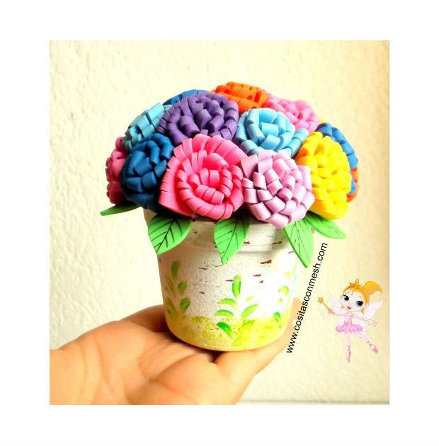 Adesivo De Parede Emoji ~ Arranjo de flores de EVA passo a passo