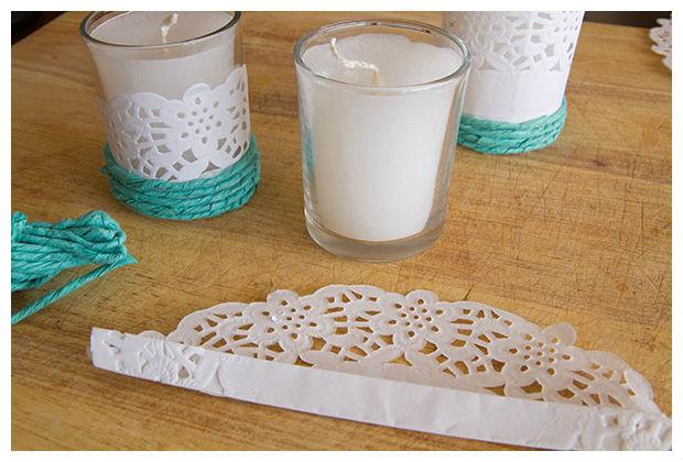Como decorar velas com guardanapos passo a passo - Como decorar velas ...