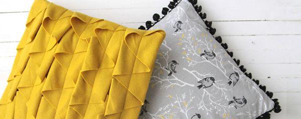 Estas diferentes almofadas decorativas são muito fáceis de serem feitas (Foto: itsalwaysautumn.com)