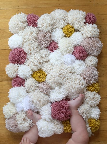 Como Fazer Tapete de Pompons Passo a Passo