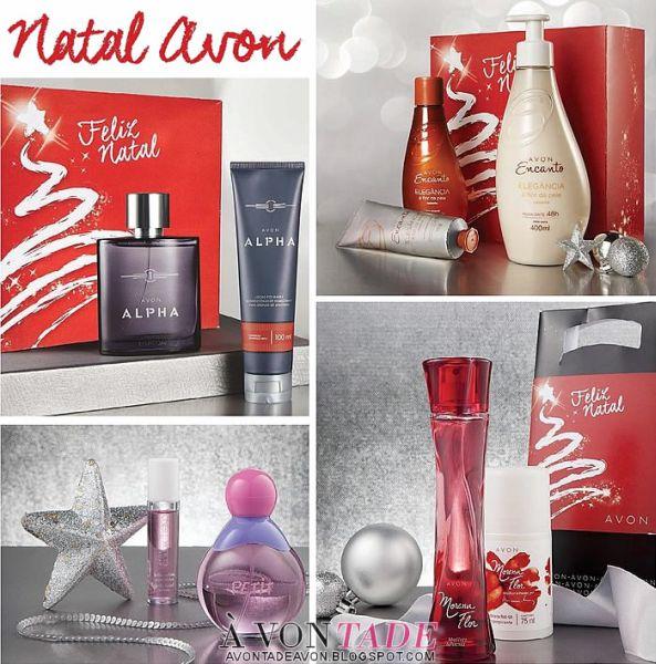 Algumas opções de kit de Natal Avon 2015 (Foto: avontadeavon.blogspot.com.br)