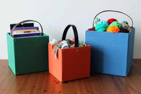 Caixas organizadoras de papelão são lindas e úteis (Foto: brit.co)