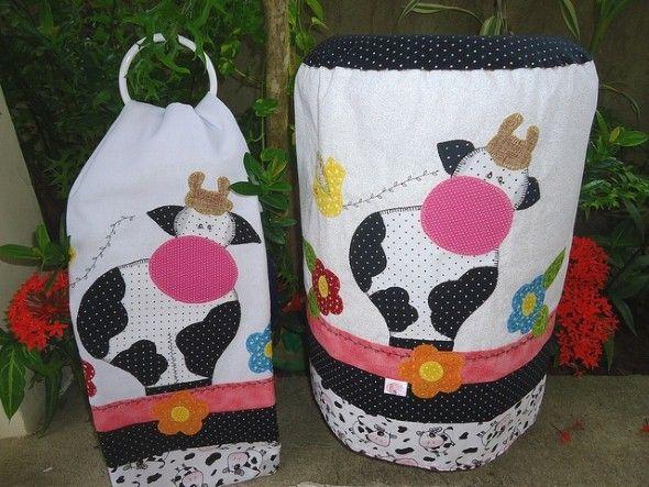Não faltam ideias para fazer capa para galão de água com tecido (Foto: decoracaoearte.com.br)