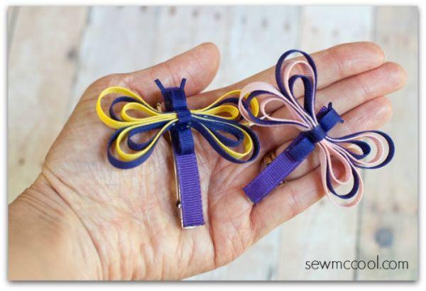 Esta libélula de fitas pode ter a combinação de cores que você desejar (Foto: sewmccool.com)