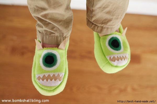 Esta pantufa infantil divertida pode também ter os detalhes que você preferir (Foto: best-hand-made.net)